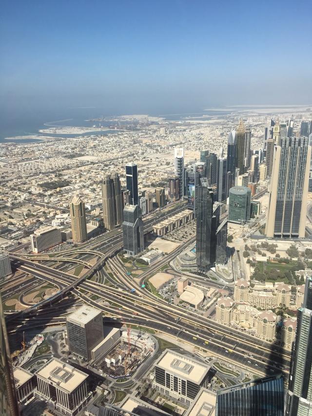 Blick vom Burj Khalifa aus auf Dubai