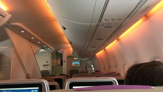 Im Airbus A 380 der Emirates