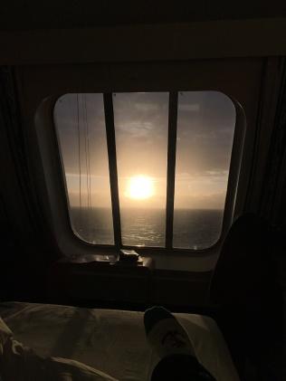 Unsere Aussicht vom Bett / Kabine 9000