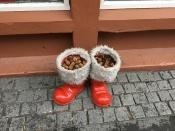 Weihnachtsstiefel in Reykjavik