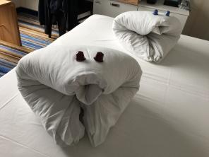 Überraschung auf dem Bett. Danke Ruben!